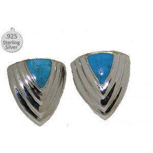 Turquoise Earrings 925 Italian Sterling Silver NWT
